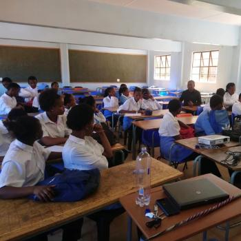 11th graders in classroom